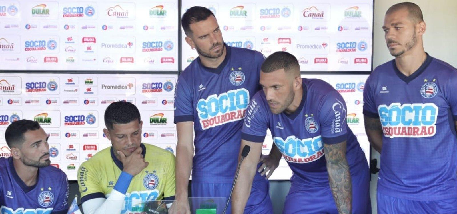 Jogadores do Bahia se pronunciam e negam racha no elenco