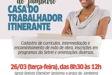 """Jambeiro: """"Casa do Trabalhador itinerante: essa casa é sua"""" chega na comunidade"""