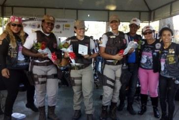 Ronda Maria da Penha de Lauro de Freitas participa do 3º Motopasseio em homenagem ao Dia Internacional da Mulher