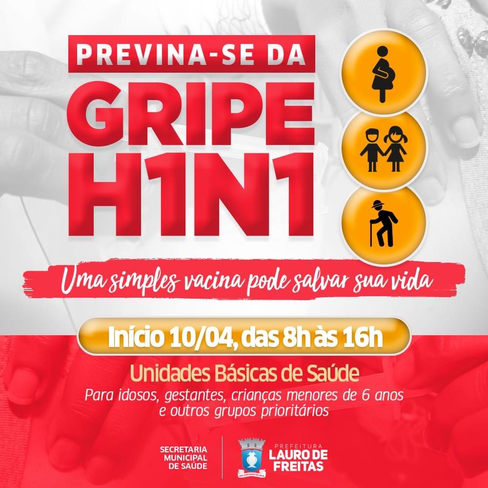 Saúde de Lauro de Freitas começa vacinação contra gripe nesta quarta-feira (10)