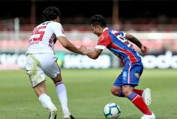 Bahia desperdiça chance de vencer fora de casa e fica no 0 a 0 com o São Paulo no Morumbi