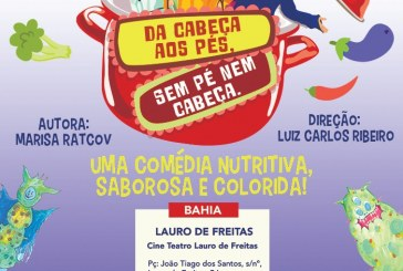 Musical infantil Da Cabeça aos Pés, Sem Pé Nem Cabeça abre temporada em Lauro de Freitas