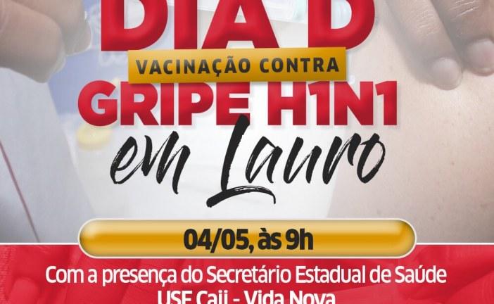 Dia D contra a Gripe H1N1 terá atendimento reforçado em Lauro de Freitas neste sábado (04)