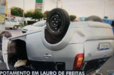 Motorista morre após carro capotar na Estrada do Coco em frente ao Hospital Aeroporto