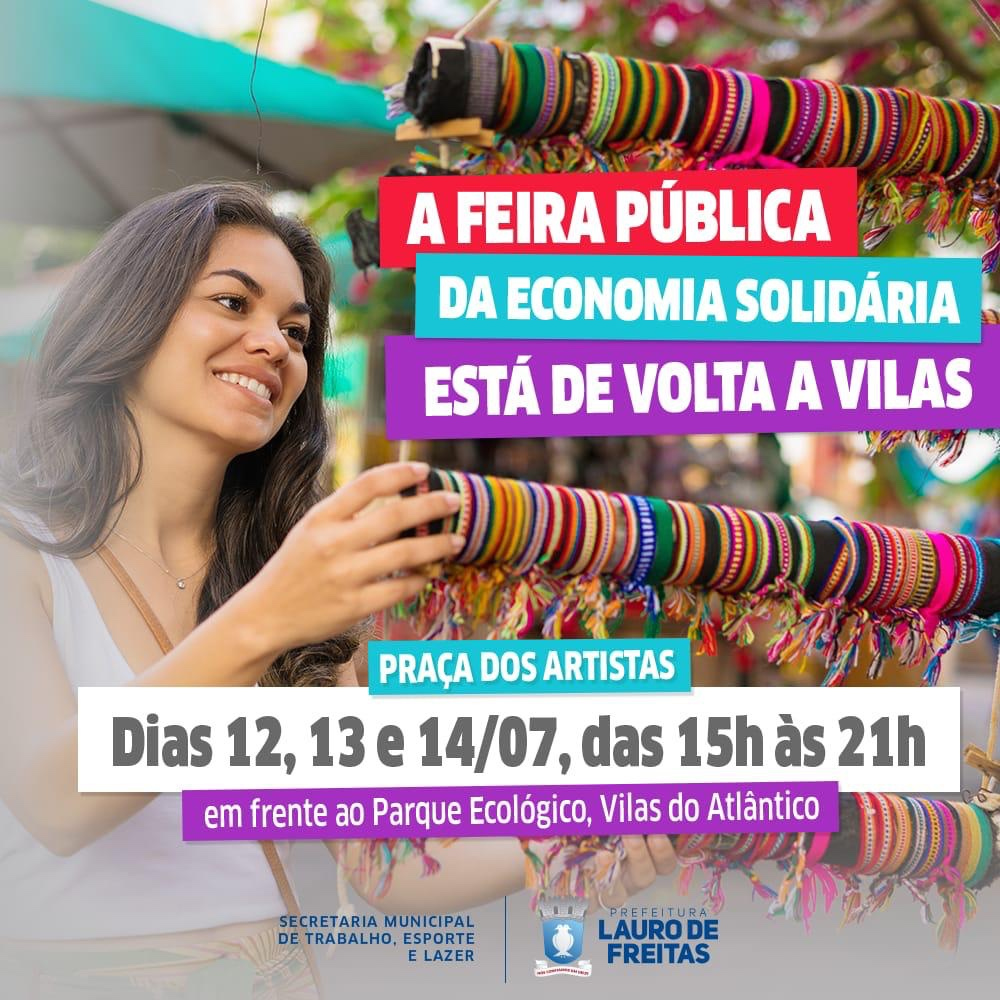 Feira Pública da Economia Solidária acontece nesse final de semana em Vilas do Atlântico