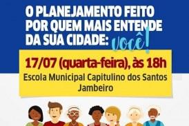 Prefeitura sempre te ouvindo! Planos de Bairro, chega à comunidade do Jambeiro e acontece nesta quarta (17)