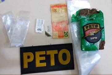 52ª CIPM prende no Centro, homem contumaz no tráfico de drogas