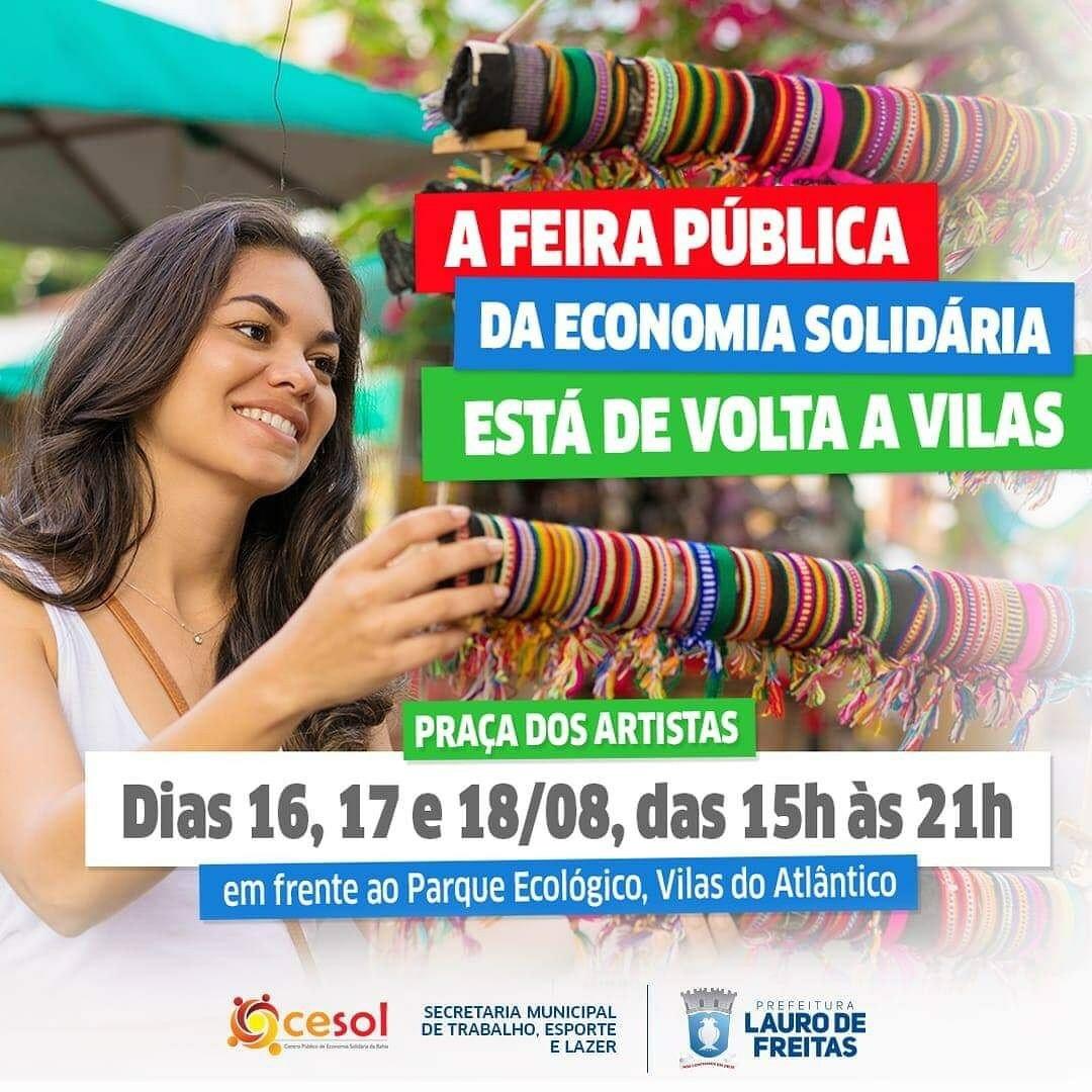 Desenvolvimento Local e geração de renda: Prefeitura promove mais uma edição da Feira Pública da Economia Solidária em Vilas do Atlântico
