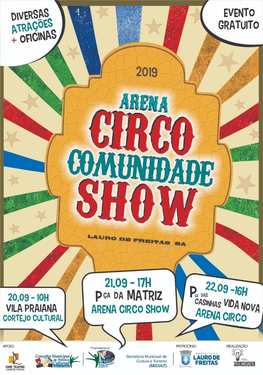 """""""Arena Circo Comunidade Show"""" reúne artistas circenses  em Lauro de Freitas com apresentações gratuitas"""