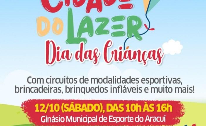 Prefeitura promove Cidade do Lazer edição Dia das Crianças nesse sábado