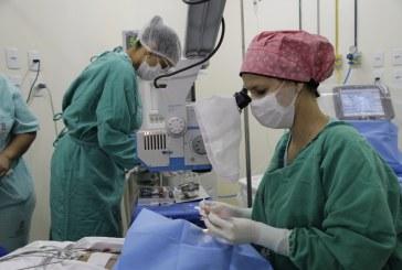 Hospital Jorge Novis realizou quinze cirurgias de catarata neste domingo (20)