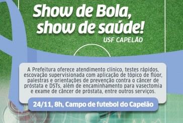 USF do Capelão leva consultas e exames para homens durante campeonato de veteranos neste domingo (24)