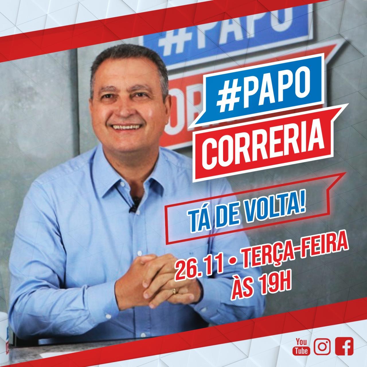 #PapoCorreria! Rui Costa conversa ao vivo com internautas, às 19h