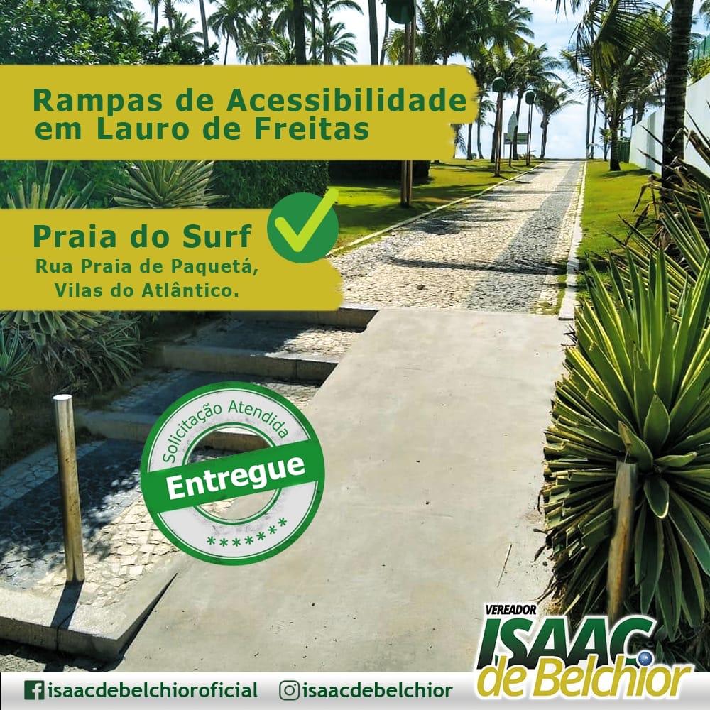 Vereador Isaac de Belchior tem solicitação atendida e Vilas do Atlântico ganha nova rampa de acesso a Praia do Surf