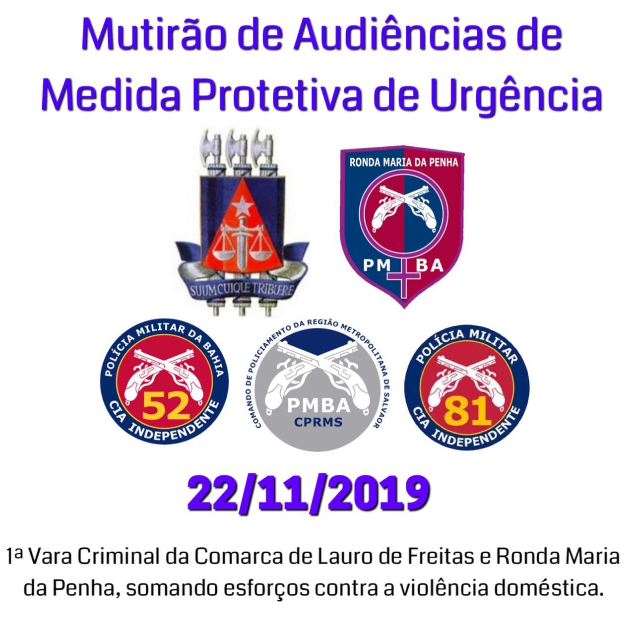 Mutirão de Audiências de Medida Protetiva acontece em Lauro de Freitas; saiba mais