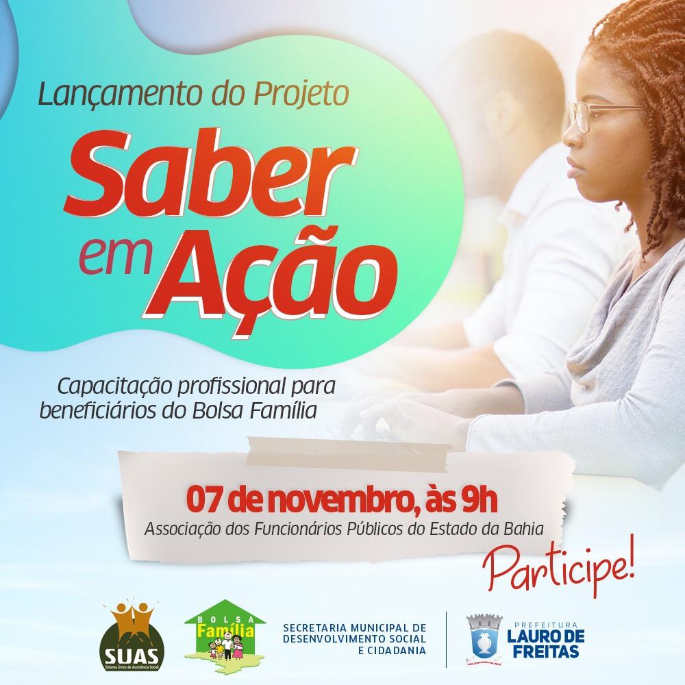 Lauro de Freitas lança cursos de capacitação para beneficiários do Bolsa Família nesta quinta-feira (07)