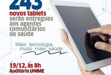 Agentes comunitários de saúde de Lauro de Freitas recebem tablets e treinamento para uso do E-SUS
