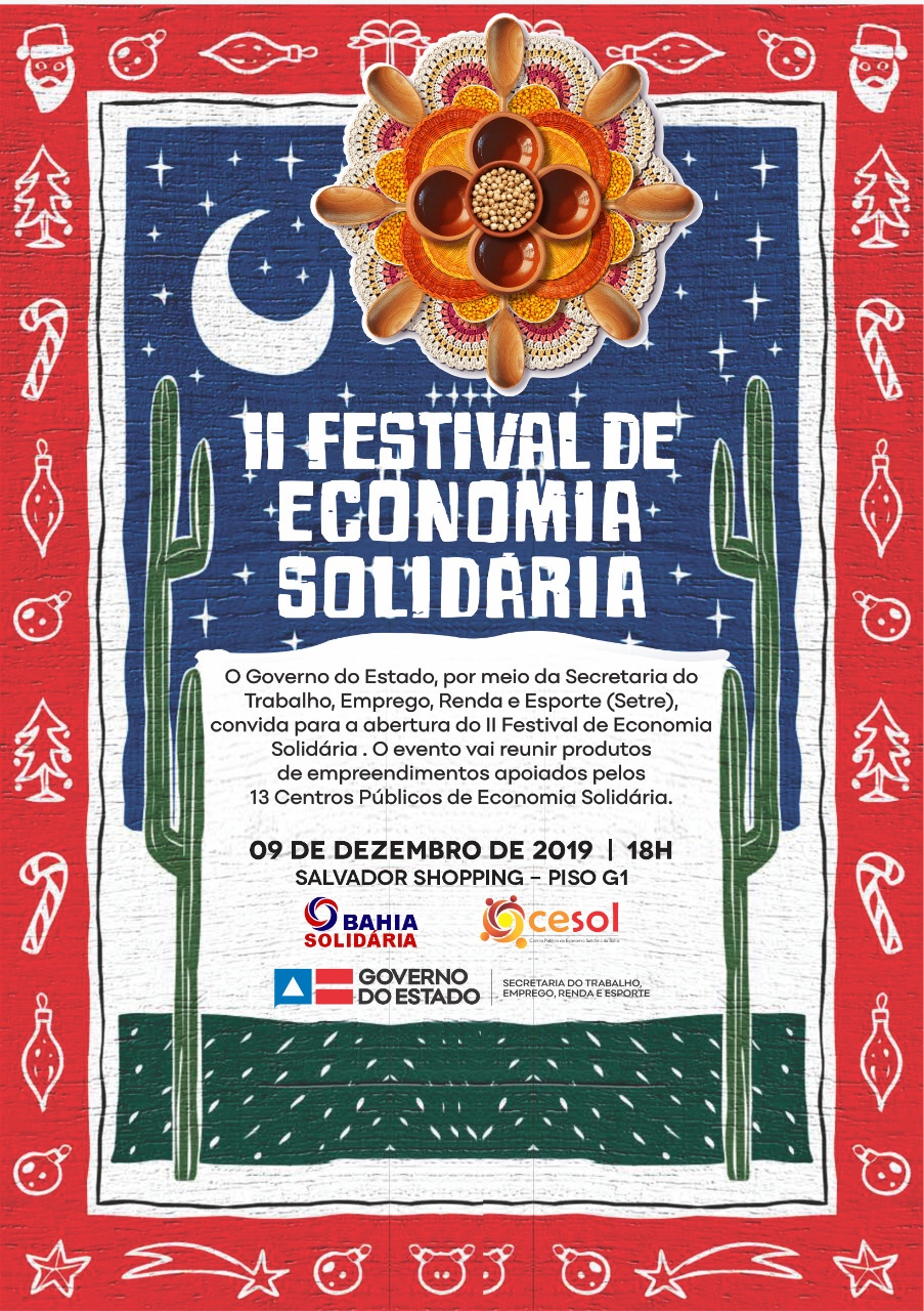 2ª edição do Festival de Economia Solidária promete ser o maior evento de comercialização do segmento no Brasil