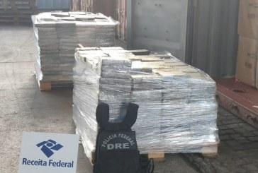 Polícia e Receita Federal apreendem mais de 1.200 kg de cocaína no porto de Salvador