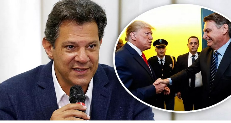 Haddad detona Bolsonaro por arrastar Brasil para a guerra