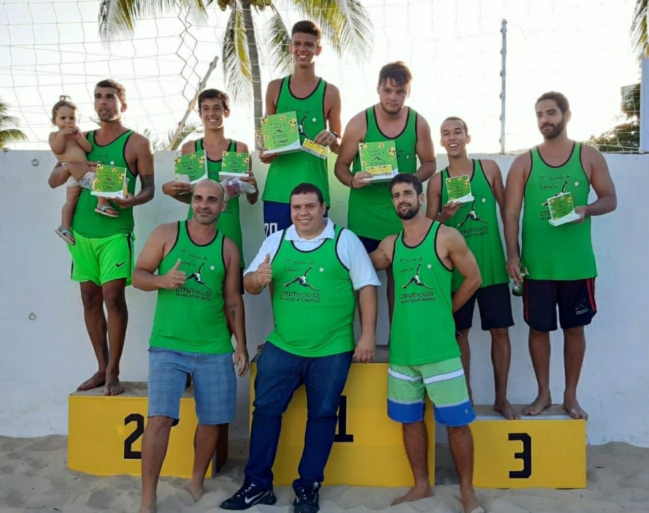 Vereador Isaac de Belchior prestigia o 11º  Torneio de Futevôlei da CTFuthouse de Lauro de Freitas