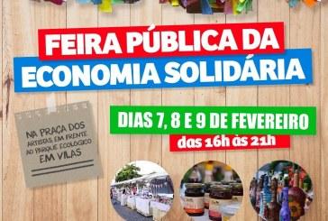 Prefeitura promove a Feira da Economia Popular e Solidária – Edição Carnaval, neste final de semana, na Praça dos Artistas