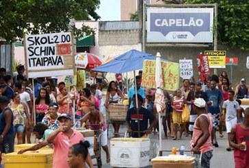 Folia de momo invadiu o Capelão nesta terça-feira (25)