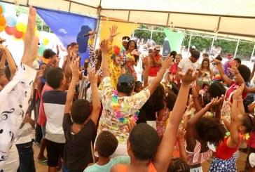 Bailinho Infantil do Capelão animou a criançada nesta terça-feira (25)