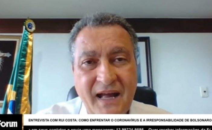 Em entrevista, Rui Costa cobra mais celeridade do Governo Federal nas ações de combate à covid-19