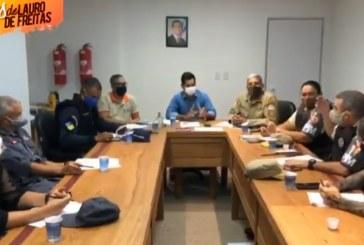 Vídeo: Settop, GM e autoridades policiais falam como irão atuar em Lauro de Freitas à frente do TOQUE de RECOLHER; fique atento!