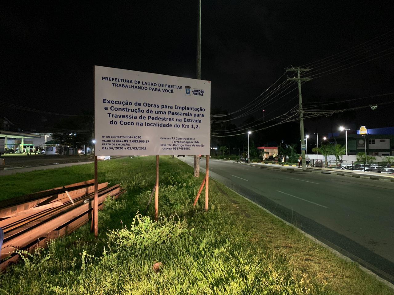 Vereador Capitão Olinto parabeniza e agradece a prefeita Moema Gramacho pelo início da construção de duas passarelas na Estrada do Coco