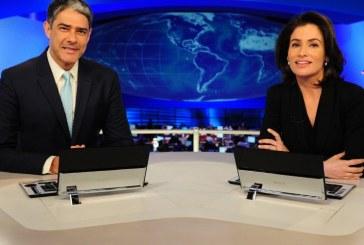 William Bonner chora ao vivo no JN e Renata Vasconcellos encerra o jornal