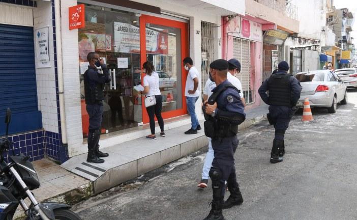 Na luta contra o coronavírus, estabelecimentos de Lauro de Freitas são fechados pela fiscalização durante feriados antecipados