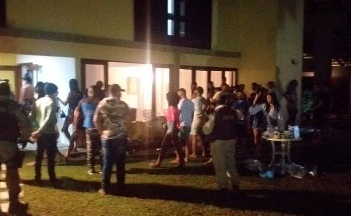 Polícia e Força Tarefa da Prefeitura encerram mais um Covid Fest em Vilas, durante Operação Toque de Recolher