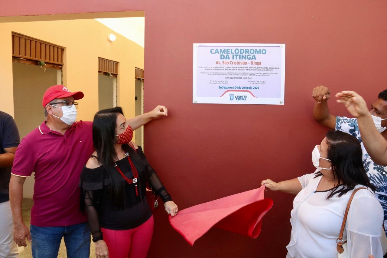 Camelódromo entregue pela Prefeitura vai organizar comércio informal da Itinga