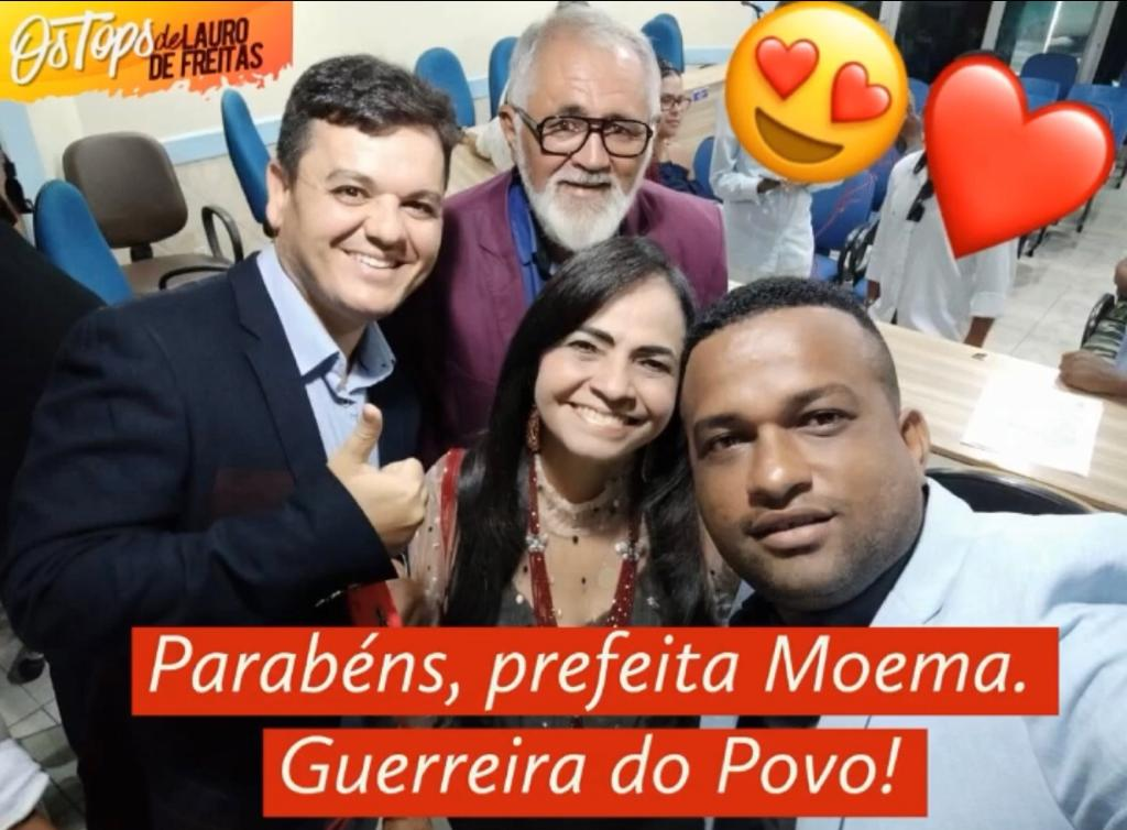 Os Tops de Lauro de Freitas, parabenizam a Prefeita Moema Gramacho: a grande aniversariante do dia. Parabéns, Moema!