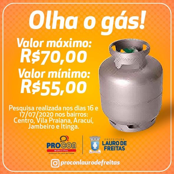 Operação gás de cozinha em Lauro de Freitas Procon divulga novo balanço com valores e bairros visitados