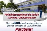 Policlínica Regional de Saúde completa um ano com mais de 8 mil atendimentos para Lauro de Freitas