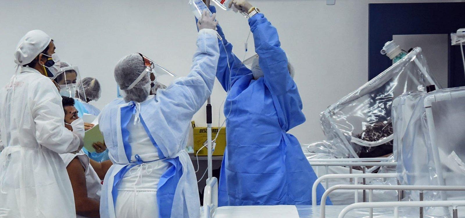 Oito capitais brasileiras ultrapassam 80% de ocupação de leitos de UTI para coronavírus