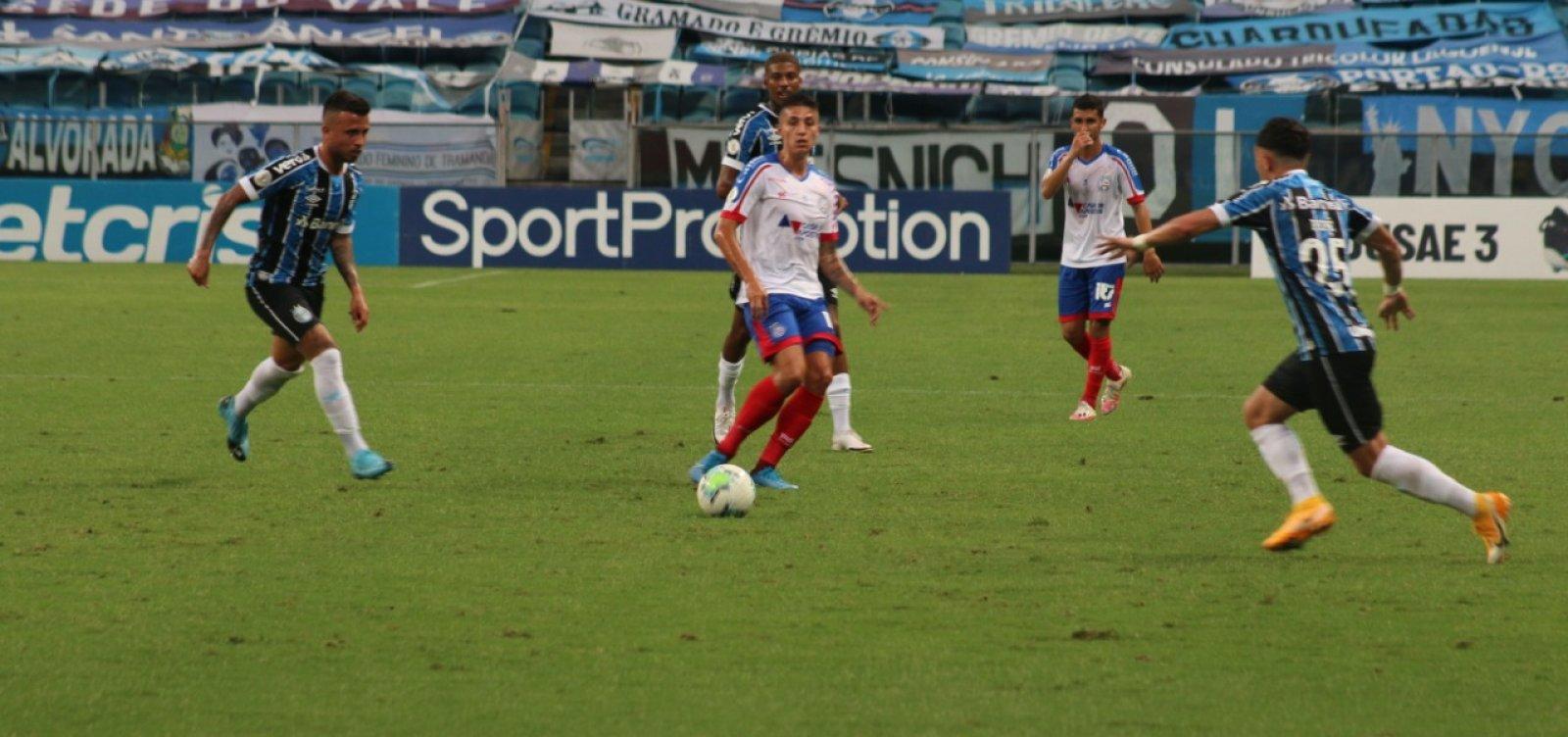 Bahia perde para o Grêmio e se aproxima mais uma vez do Z-4