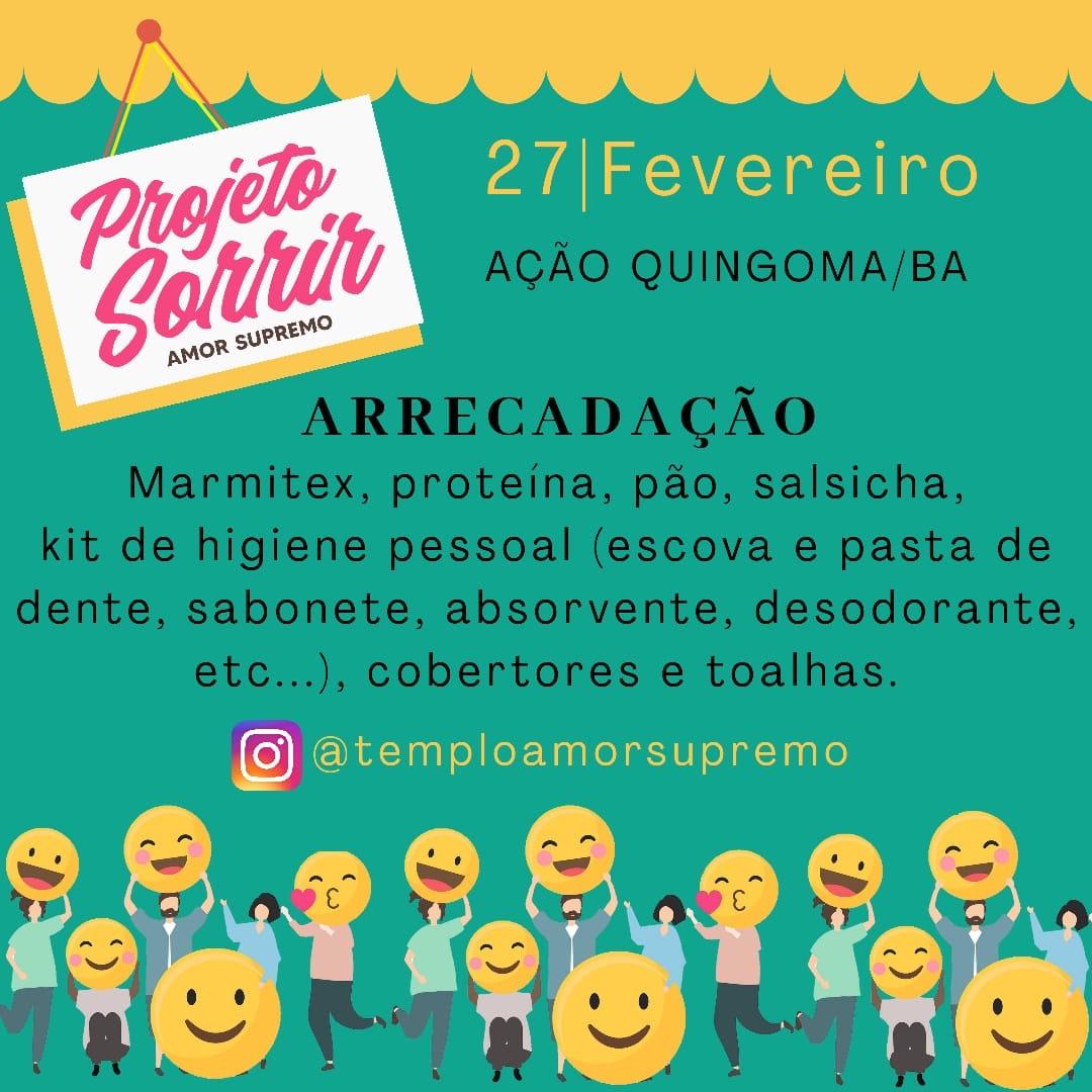 Projeto Sorrir estará em Quingoma no dia 27/02; saiba mais