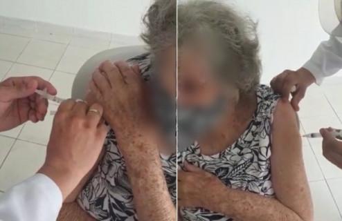 Mulher flagra falsa aplicação de vacina contra a Covid-19 na mãe e faz alerta