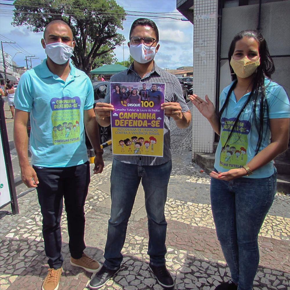 Prefeitura de Lauro de Freitas realiza ato de conscientização contra abuso e a exploração sexual