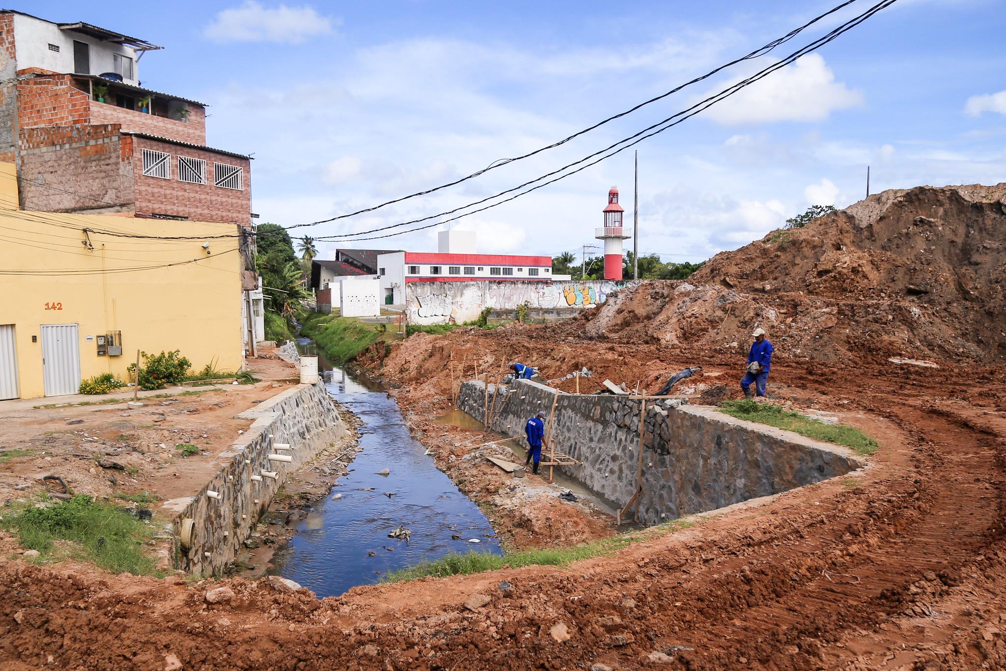 Obras de contenção da Avenida Beira Rio já estão 80% executadas