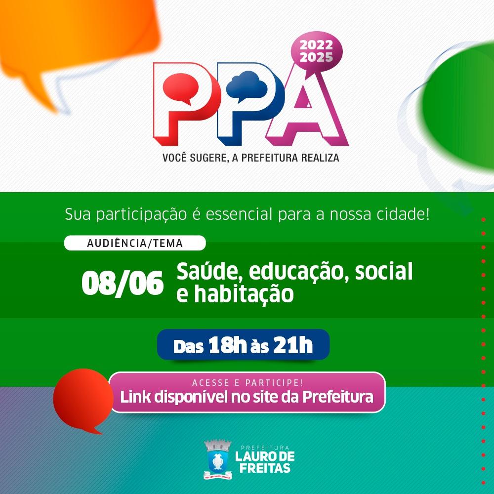 Saúde, educação, social e habitação são os temas da 1ª audiência pública do PPA nesta terça-feira (08)