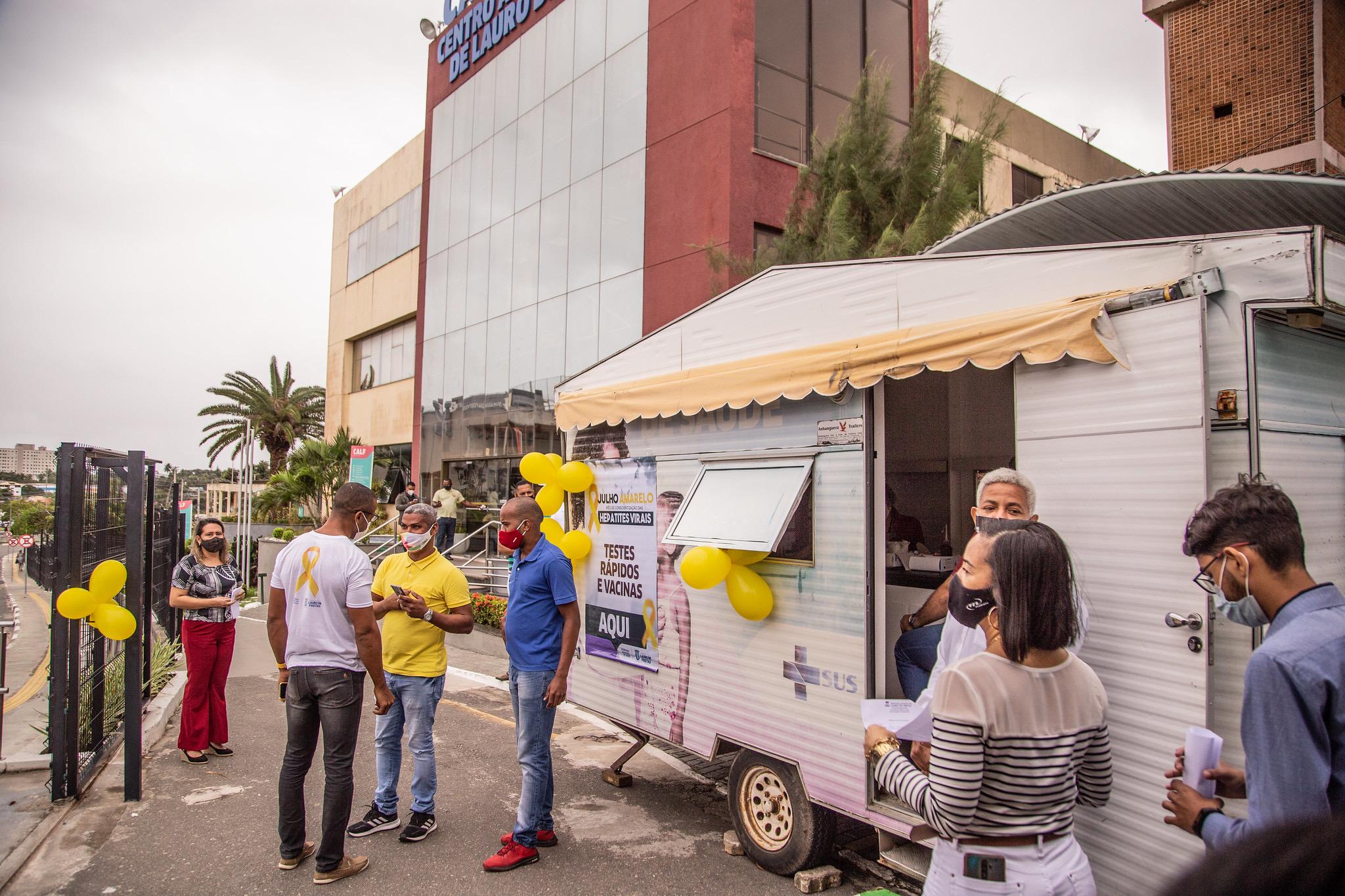 Centro Administrativo de Lauro de Freitas recebe ações do Julho Amarelo; 220 pessoas são testadas para a hepatite