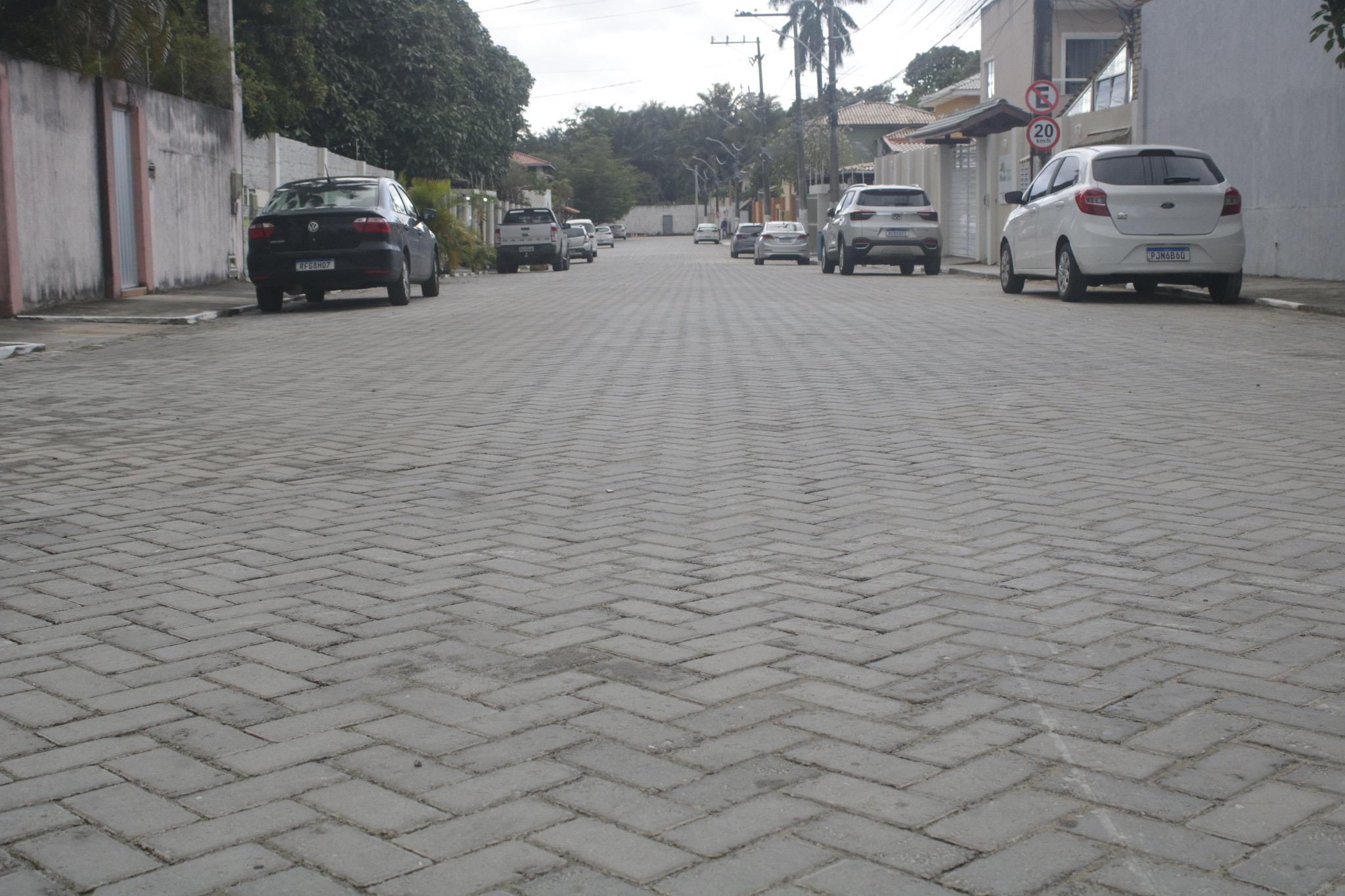 Prefeitura fecha semana de entregas com inauguração de três ruas pavimentadas em Buraquinho
