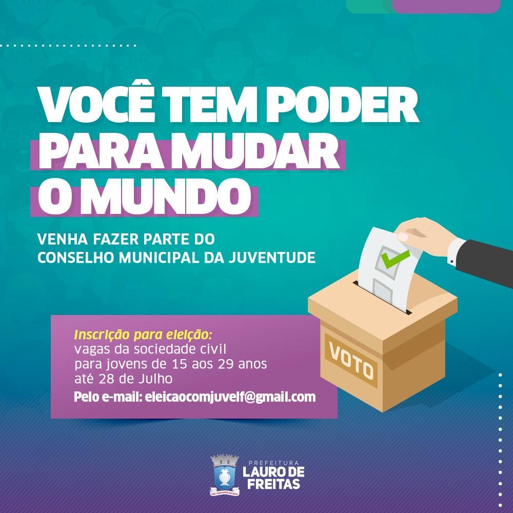 Conselho Município da Juventude abre inscrição para nova composição em Lauro de Freitas