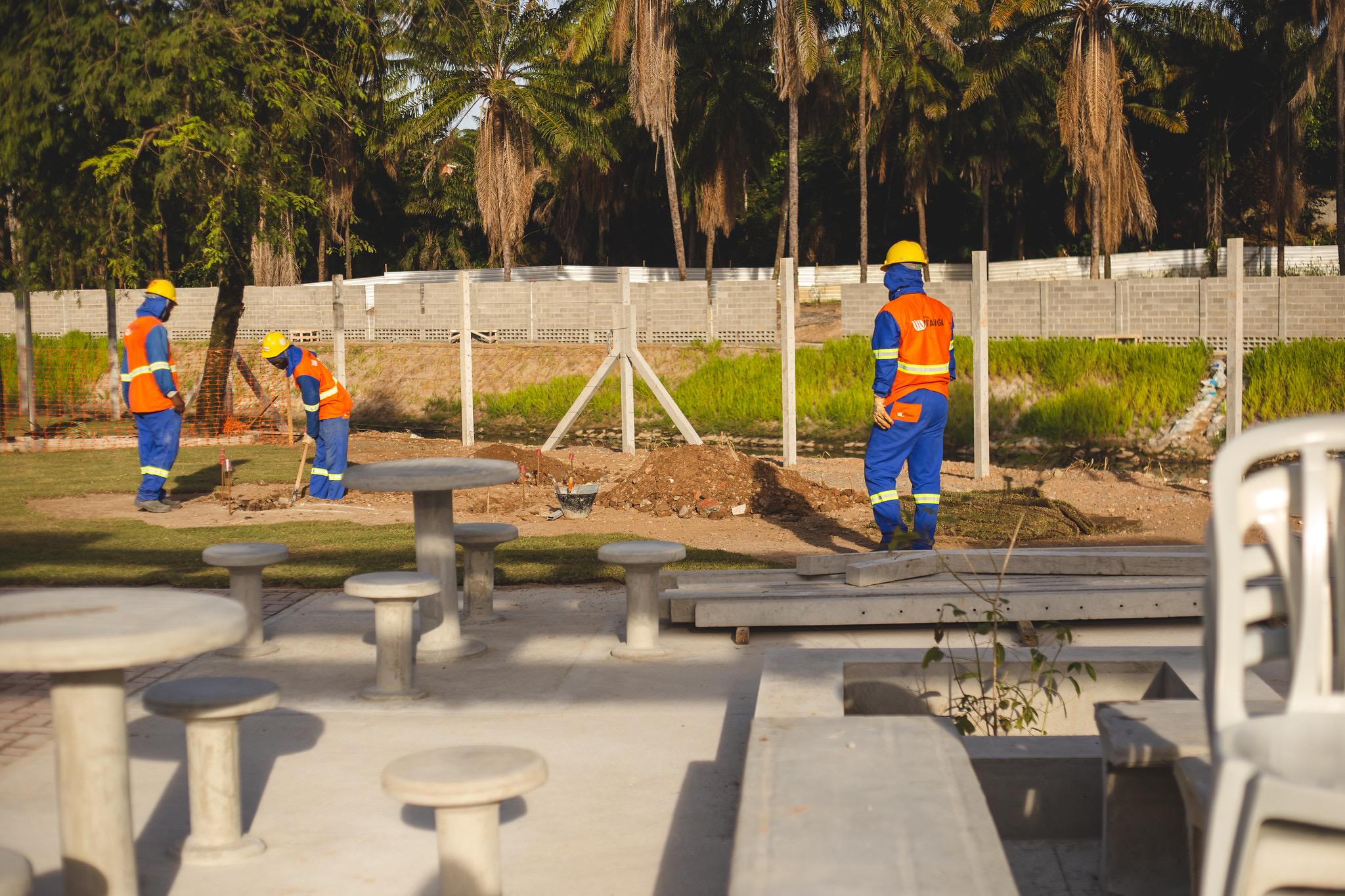 Conder conclui mais uma etapa da macrodrenagem do Rio Ipitanga. Projeto prevê praça e ciclovia no Quingoma