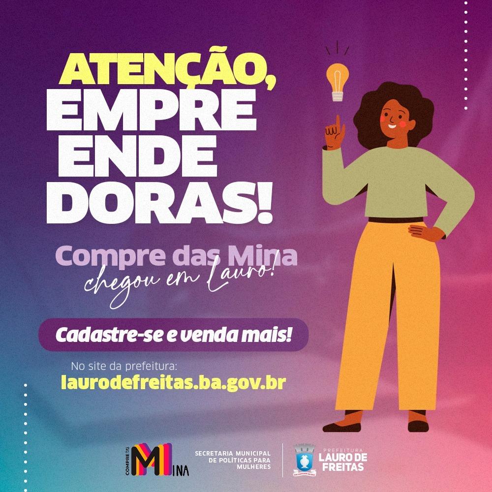 SPM de Lauro de Freitas abre pré-cadastro para fortalecer o trabalho de mulheres empreendedoras. Confira